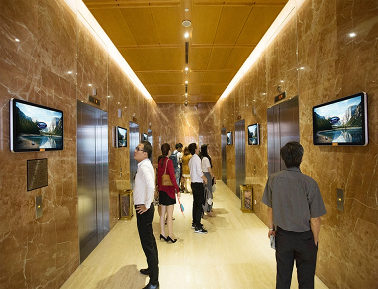 Quảng cáo LCD tại thang máy