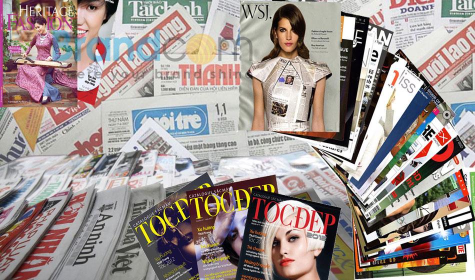 Quảng cáo trên báo giấy, tạp chí