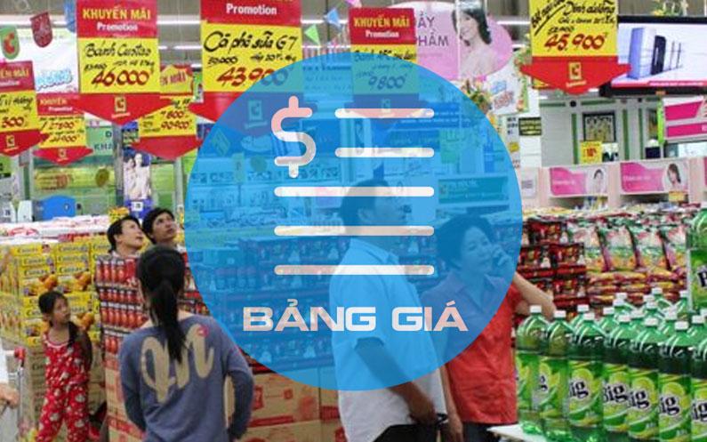 Báo giá quảng cáo trong siêu thị