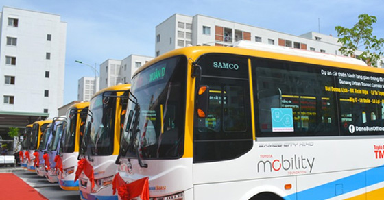Báo giá quảng cáo trên xe Bus Miền Trung