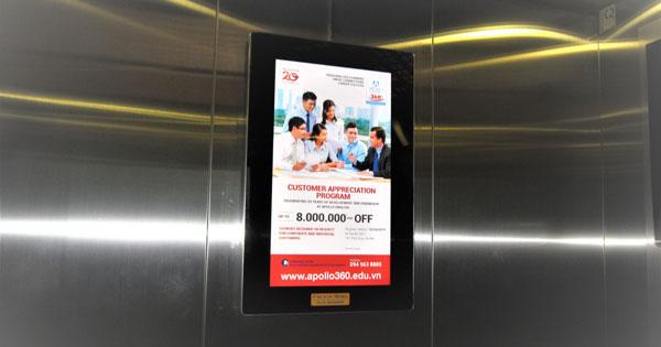 BÁO GIÁ QUẢNG CÁO TRONG THANG MÁY (LCD) TẠI ĐÀ NẴNG NĂM 2020
