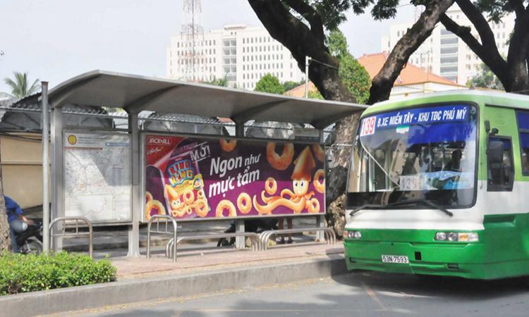 Báo giá quảng cáo tại nhà chờ xe Bus HCM - Quảng cáo Bus HCM